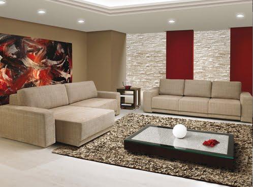Decoraci n minimalista y contempor nea decoraci n con for Salas de estar modernas y pequenas