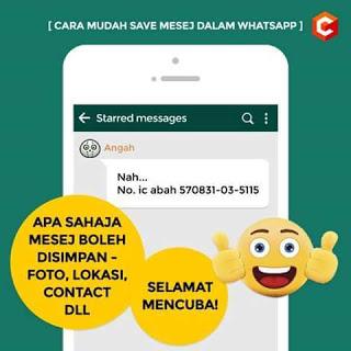 Simpan Masej Whatsapp