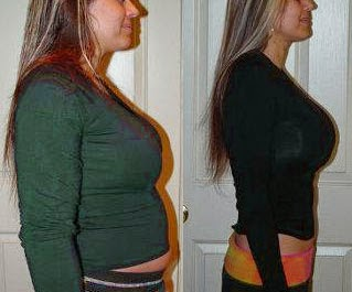 Results of a woman after 30 days on the HCG Diet.