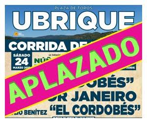 UBRIQUE 24-03-2018. CORRIDA DE TOROS .