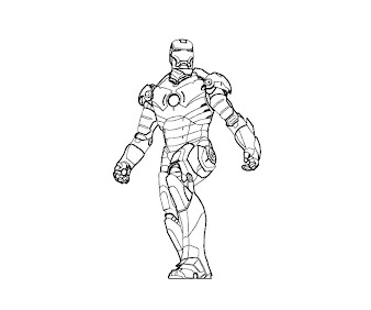#14 Iron Man Coloring Page