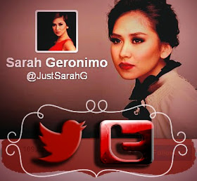 Follow Sarah Geronimo on Twitter