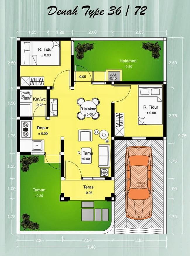 Denah Rumah Minimalis Type 36 2014