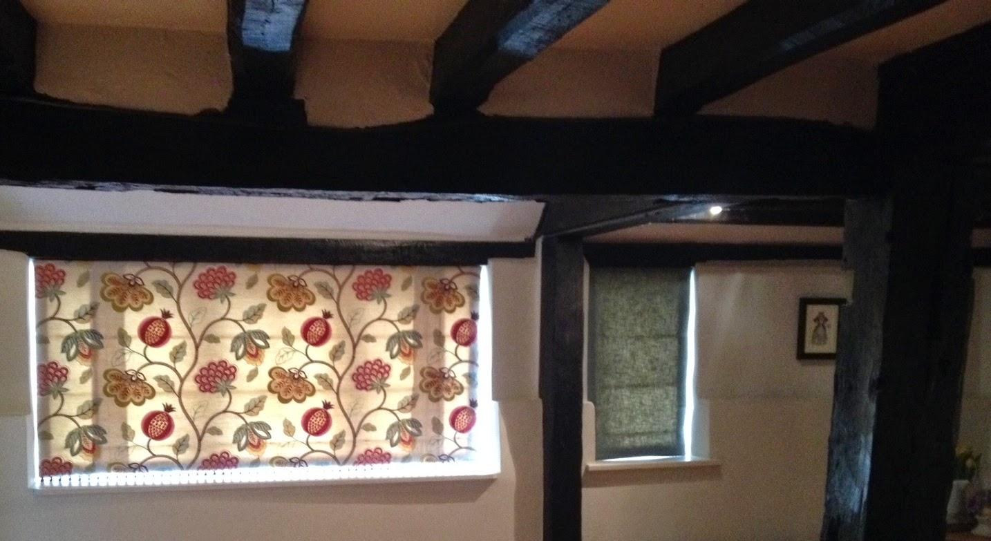 Jane Churchill Paradise Garden & Weymss Eden linen roman blinds