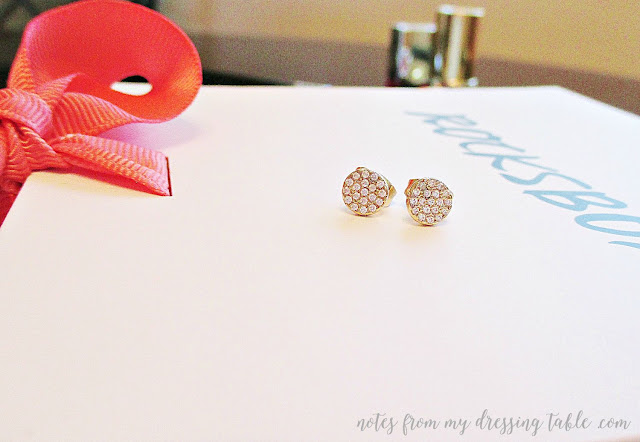 my first rocksbox sophie harper pave circle stud earrings notes from my dressing table