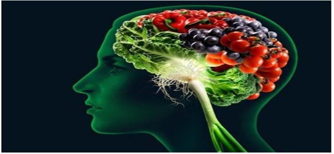 Pessoa pensando alimentos saudáveis