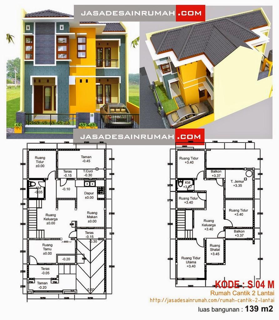 Desain Rumah Minimalis 2 Lantai 8 X 12 - Gambar Foto Desain Rumah