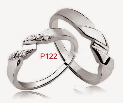 Contoh model cincin nikah palladium emas putih