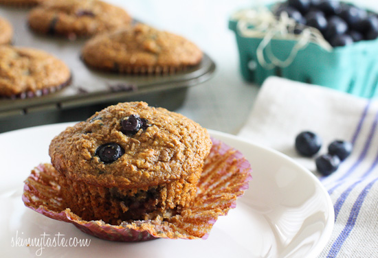 Blueberry+Coconut+Bran+Muffins Honey Coconut Blueberry Bran Muffins