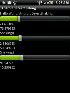 Detect Shaking