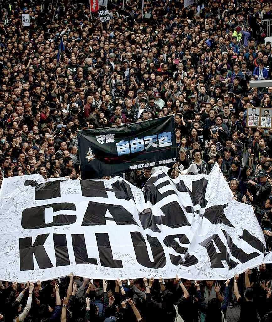 Mensagem para Pequim: não poderão nos matar a todos
