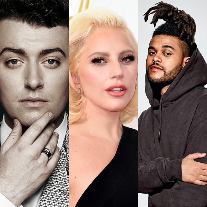 Lady Gaga, Sam Smith y The Weeknd se presentarán en los Oscar.