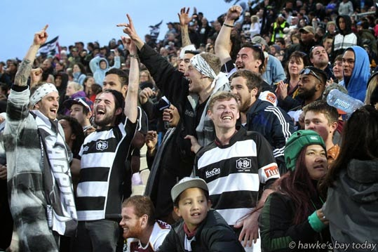 Ecstatic crowd after Ihaia West kicks a drop goal in the last minute, on his second attempt photograph
