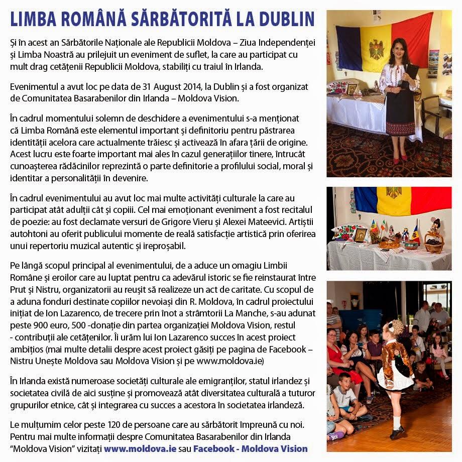Limba Română sărbătorită la Dublin