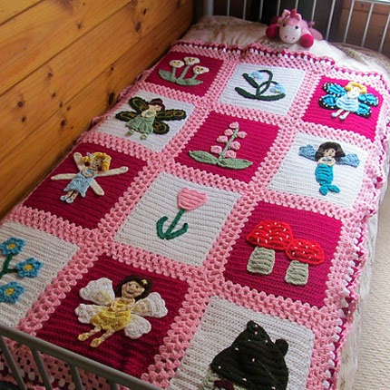 Free Crochet Patterns Childrens Blankets : Crochet For Children: Fairy Garden Blanket (Free Pattern)