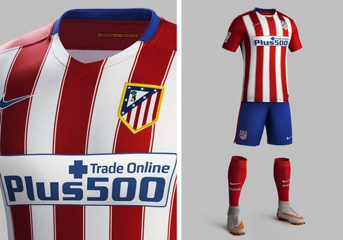 El nueva camisetas futbol de Atlético Madrid 2015-16 cuenta con nuevo  patrocinador principal Plus500 6b02769ca77f3