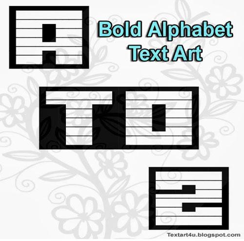 ۞ ASCII Alphabets ۞
