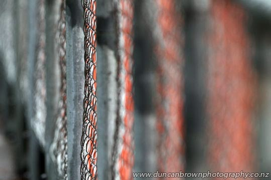 Colourful chain link photograph