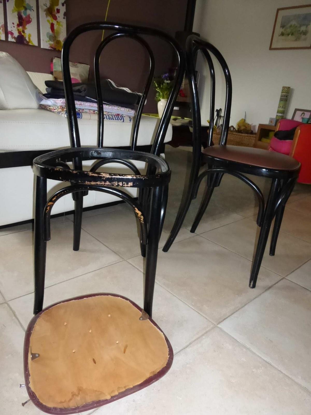 bulles de cerises retaper une chaise en bois et son assise. Black Bedroom Furniture Sets. Home Design Ideas