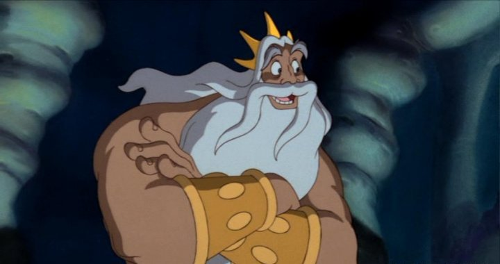 King Triton The Little Mermaid 1989 movieloversreviews.blogspot.com