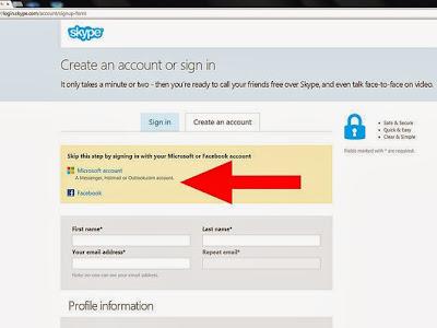 Cara Membuat Akun Skype Mudah dan Cepat, Gambar