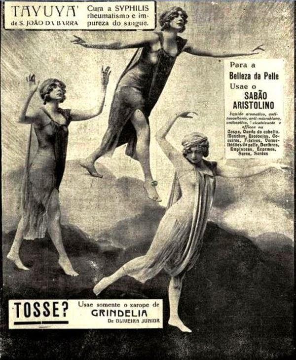 Propaganda de produtos ligados à saúde e higiene da mulher. Veiculado em uma única página, em 1924.