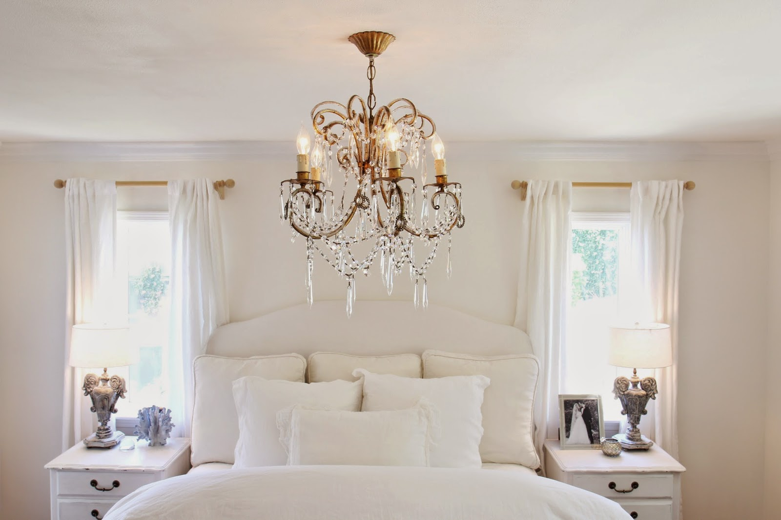 A Chandelier for the Master Bedroom; White Palette in Home Decor; Nora's Nest