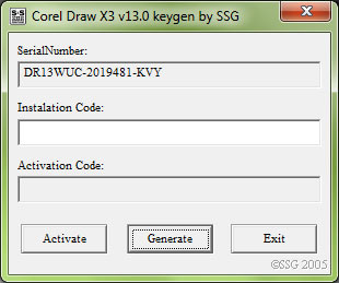 corel draw x3 serial number and activation code