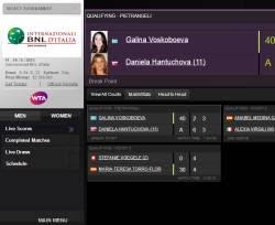 App risultati delle partite di Tennis