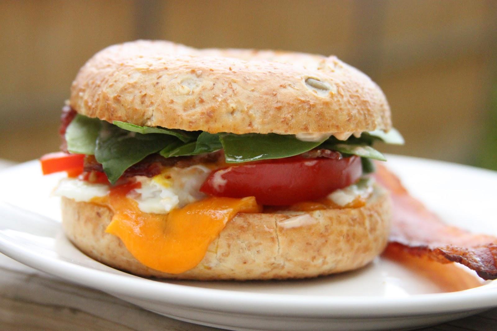 everyday foodie a week of sandwiches bagel breakfast