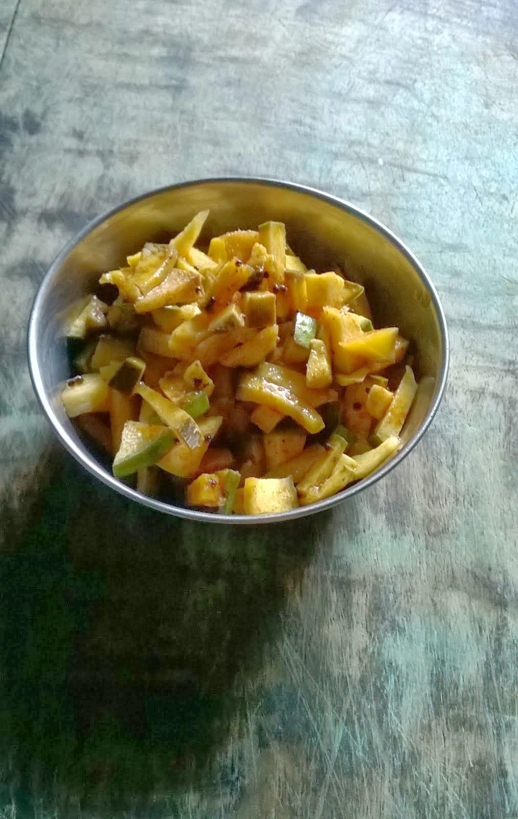 Instant Mango Pickle | Mango Recipes