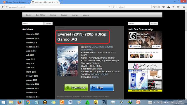 Cara Download Film di Ganool Sekali Tiup