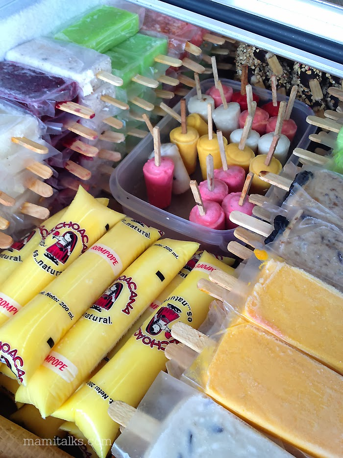 Mexican ice cream and paletas