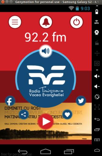 Aplicaţia RVE Timişoara pentru Android