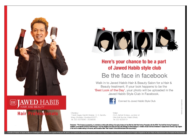 Rohit The Thinker: Jawed Habib - Salon ads