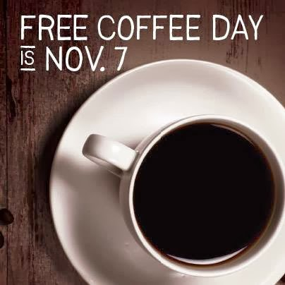 Bruegger's Free Coffee Day Nov 7