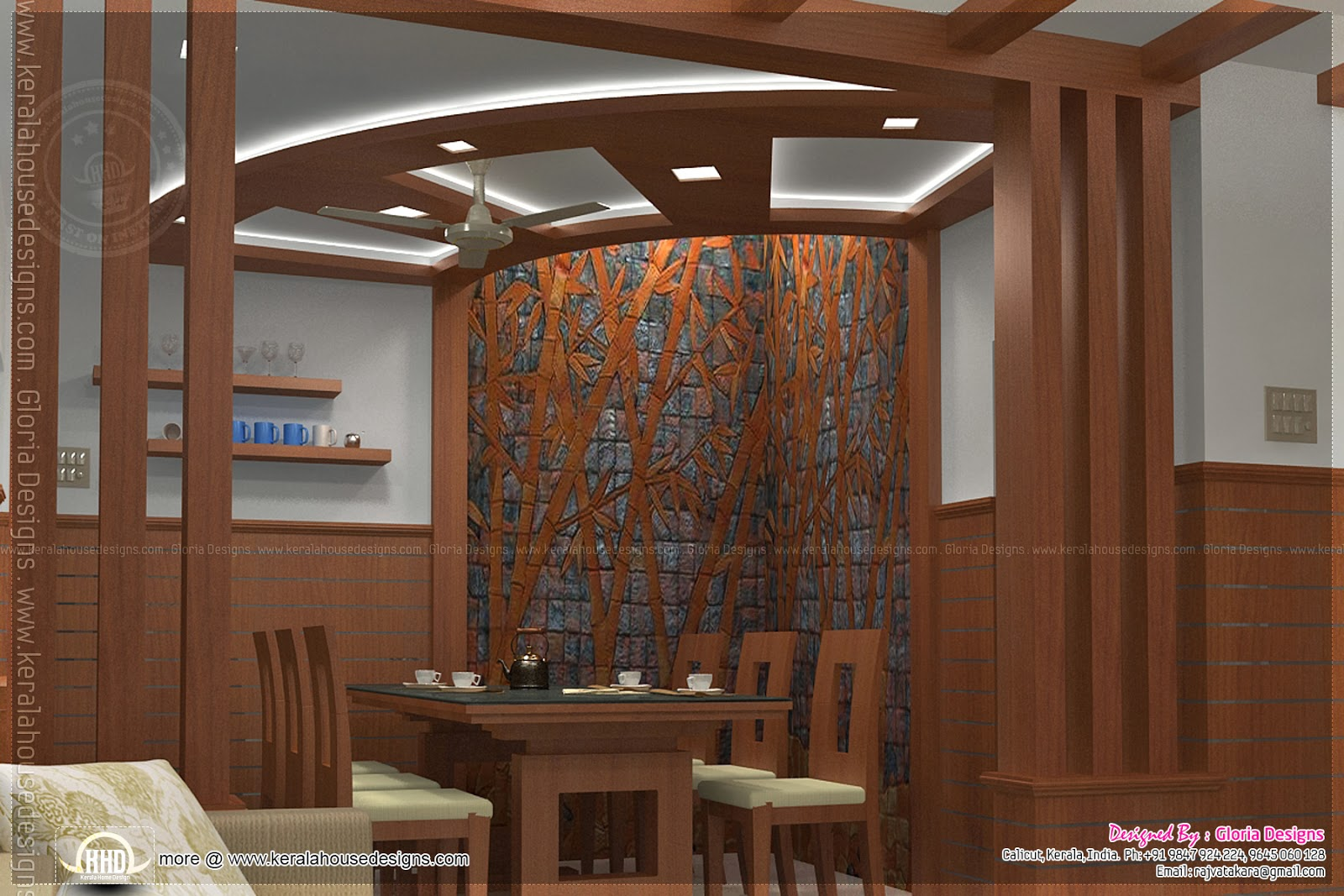 Home interior designs by gloria designs calicut kerala home design and floor plans for Interior design for home photos