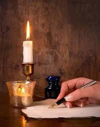 escribiendo, escritor, Con mi mano