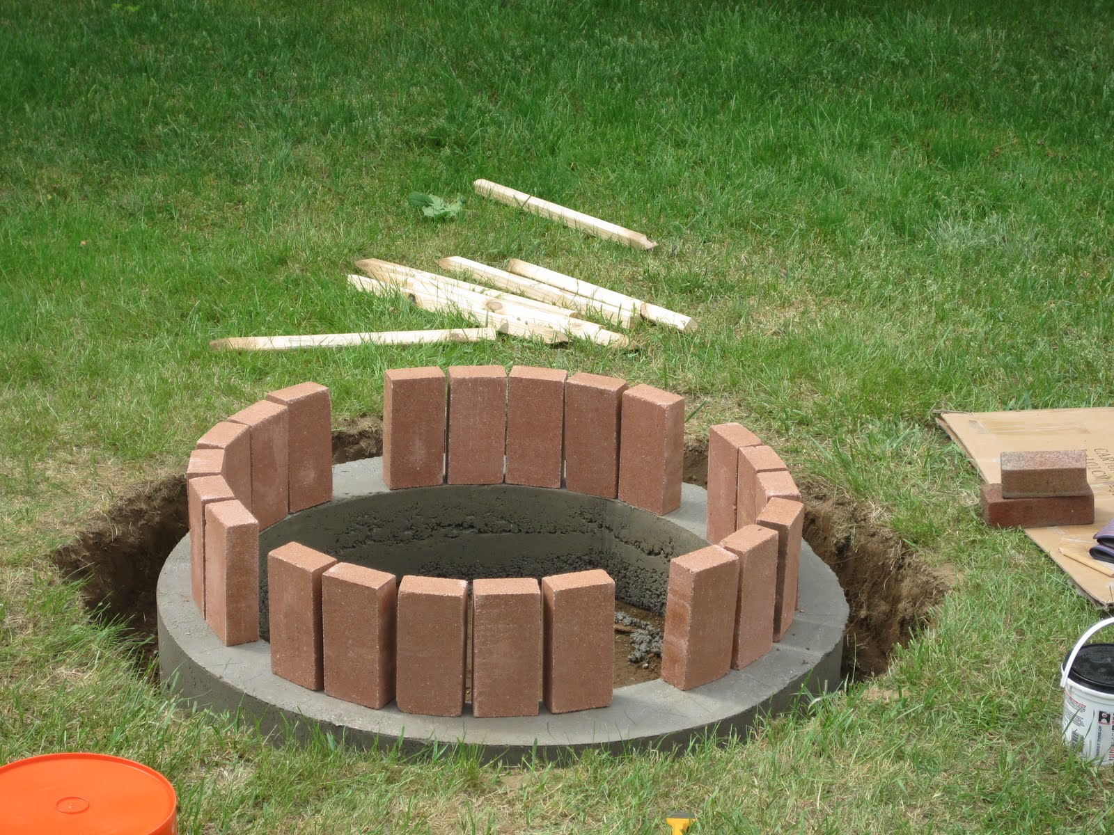 Brick Fire Pit : Jemstaa the fire pit project day