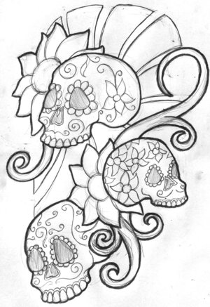 Looking for unique Tattoos? Sugar Skull Tattoo · click to view large image