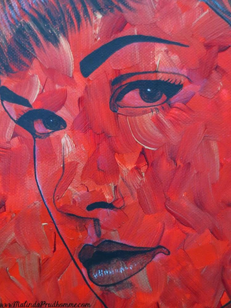 portrait artist, malinda prudhomme, pop art, vintage pop beauties,bettie page, bettie page art, painting, original artwork, original paintings