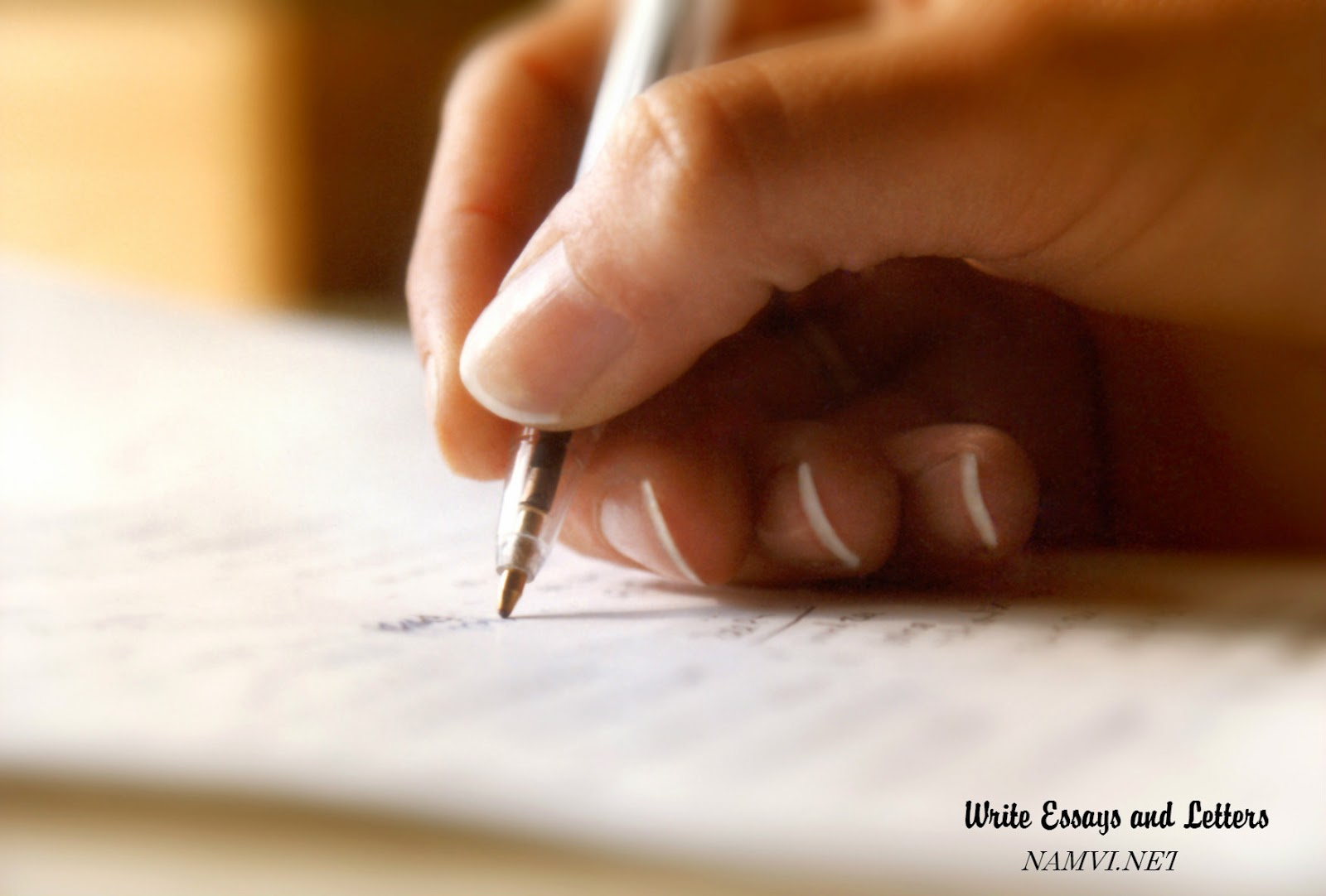 Write Essays and Letters