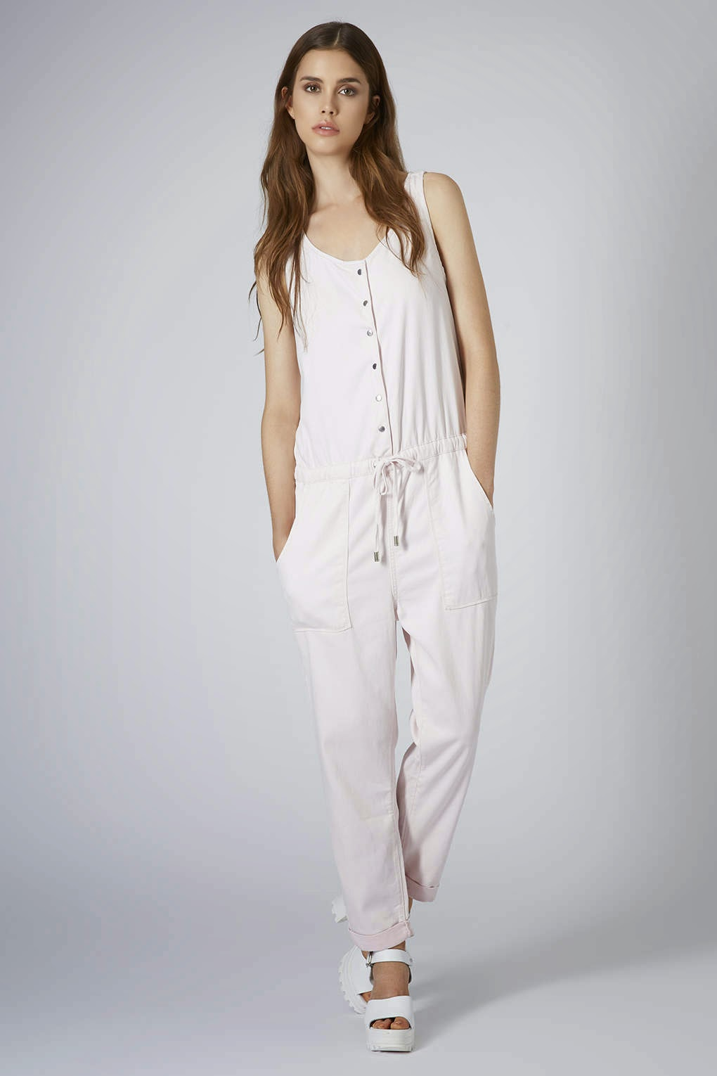 light pink jumpsuit