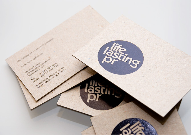 Graphic design life lasting pr business card by parent design ams simple clean and very effective this logo looks great stamped onto the business cards take a look at more work by parent design over here colourmoves