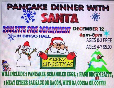 12-12 Pancake Dinner W/Santa, Roulette
