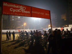 """Assembly of Cyclists at """"MET Ground"""" for 28Kms Amateur ride."""