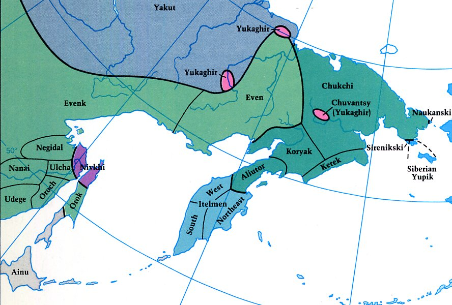 Endangered Languages Project Orok Map of Northeast Asian Languages