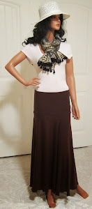 Solid Chestnut Brown Stretch Knit Jersey Maxi Skirt for Missionary, work, or leisure wear