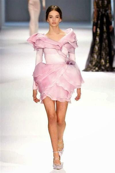 défilé de haute couture prais printemps été 2015 ralph et russo robe magnifique