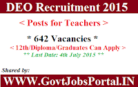 District Education Office Recruitment 2015
